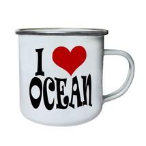 I love ocean Novelty  Retro,Tin, Enamel 10oz Mug r1e - $13.13