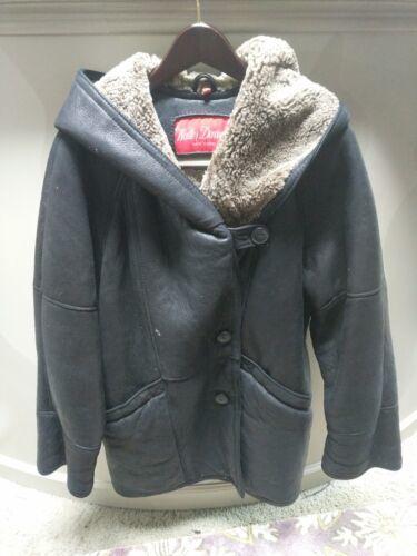 Walter Davoucci Women  Lambskin Leather Shearling Jacket Sz Medium Coat