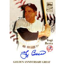 Yogi Berra 2000 Topps Golden Anniversary Great Autograph Issued Card - $119.95