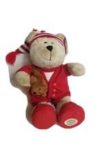 """Starbucks Bearista Bear Red Pajama Teddy 10"""" Plush PJ Sleeping 2007 68th Ed - $25.87"""