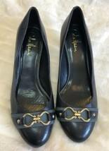 Cole Haan Navy Blue Heels Shoes Size 8.5 Buckle Cushion Short Heel - $29.69