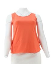 Wicked Women Control Essentials Shirttail Hem Tank Coral Fusion L NEW A306465 - $13.83