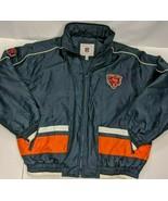 Official NFL Chicago Bears Winter Coat Full Zip Size XL Nylon Waterproof... - $48.19