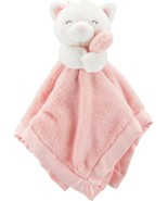 NWT Carters Plush Stuffed Animal Kitty Cat White Pink Sof Security Blank... - $20.89