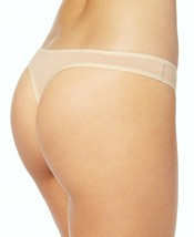 Calvin Klein Cotton Form Thong Panties Underwear QD3643-277 Bare Nude Beige NWT