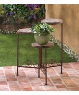 D1091 SHIPS FREE-Summerfield Terrace Rustic Triple Planter Stand   - $38.55