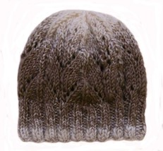 Closet Values Juniors One Size Fit Ombre Brown Knit Beanie Hat - $15.99