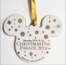 "NWT Disney Parks 4"" Magical Christmas Day Parade 2019 Mickey Ornament Ce... - $14.80"