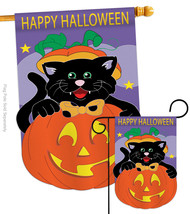 Black Cat - Applique Decorative Flags Set S112042-P2 - $57.97
