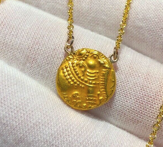 INDIA ELEPHANT W/ SOLID GOLD CHAIN PAGODA WOMENS JEWELRY PENDANT NECKLACE  - $1,550.00