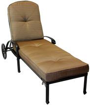 Outdoor Chaise Lounge Elisabeth Cast Aluminum All Weather Patio furniture Bronze image 2