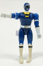 "Vtg MMPR Power Rangers Blue Ranger 5.5"" Action Figure Bandai 1997 Double... - $14.99"