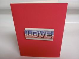 Pink love handmade greeting card - $3.50