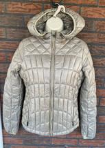 Puffer Jacket Small Quilted Long Sleeve Coat Lightweight Zipper 4 Pocket... - $24.50