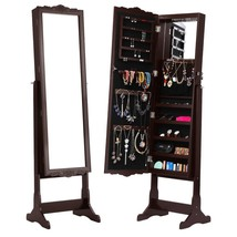Mirrored Jewelry Cabinet Armoire Box LED Standi... - $149.56