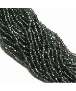 Black Diamond Smoke Silver Lined Czech 6/0 Seed Bead on Loose Strung 6 S... - $7.06