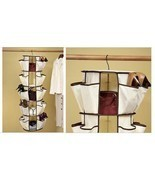 Hanging Carousel Organizer, Stores 20 Pair Shoes, Sandals, More, Closet ... - $120.00