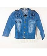 Girl Denim Jean Jacket Bottom Lace Cowboy Jacket See Description No Size... - $14.84