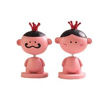 Set of 2 Lovely King&Queen Car Ornaments Resin Interior Auto Trinkets,4.12.2''