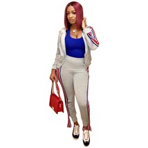 Women's Crop Top and Sweat Pant Set Casual Outfit Sportswear 2 Piece - $49.99