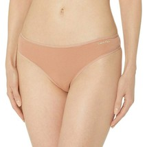 Calvin Klein Women's Warm Camel Cotton Form Soft Thong Underwear Panty QD3643 image 2