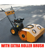 6.5HP Walk Behind Snow Lawn Turf Clean Sweeper w/ Dust Collector & EXTRA... - $1,029.99