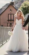 Simple A Line Sweetheart Wedding Dresses Beaded Pleated Bridal Gowns image 4