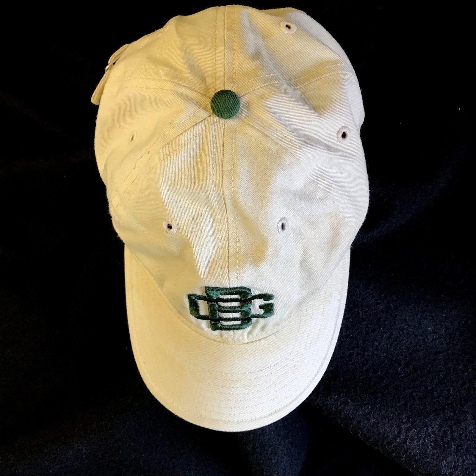 7383d45d8ba Retro Green Bay Packers 1956 Vtg GB Logo Beige Ball Cap Adjustable Snap  Buckle