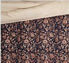 "Floral Print Velvet Tufted Quilt Threshold  92"" x 88"" Full / Queen Size  Store image 2"