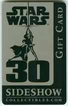 Star Wars 30th Anniversary 2007 SDCC EXC Sideshow Gift Card / NO VALUE - $9.89