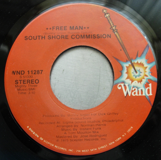 South Shore Commission - Free Man - Wand Records WND 11287