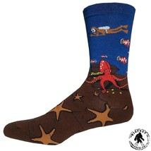 Under The Sea Socks Fun Novelty One Size Fits Most Dress Casual Big Foot... - $12.49