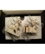 Lenox Rudolph the Red Nose Reindeer Salt and Pepper Shaker Set Two Piece... - $14.99