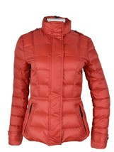 New Burberry Brit Women's $700 Military Red Dalesbury Duck Down Puffer J... - $361.35