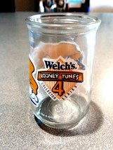 1994 WELCH'S LOONEY TUNES DAFFY DUCK & PORKY PIG BASEBALL JELLY JAR #4 S... - $4.00