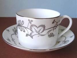 Martha Stewart Flourish Ecru Tea Cup & Saucer New - $14.99