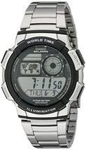 Casio Men's AE1000WD-1AVCF Silver-Tone Digital Watch - $34.97