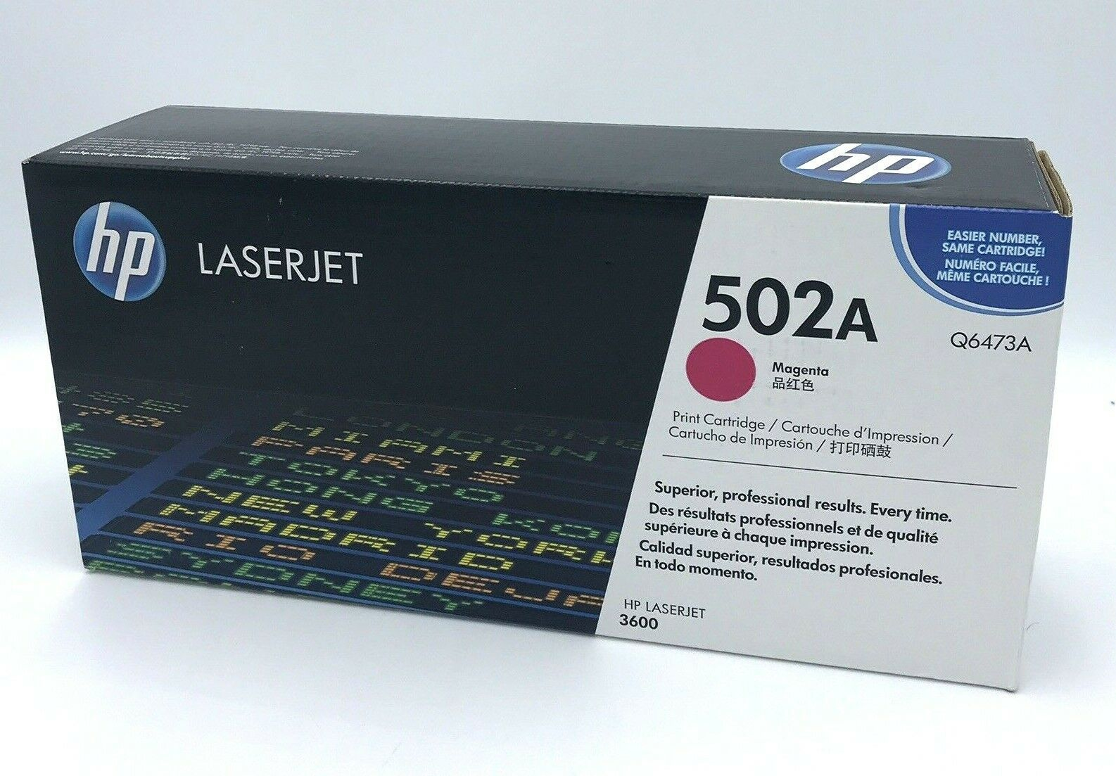 Primary image for HP Laserjet 502A Magenta Toner Cartridge Q6473A Sealed Genuine HP3600