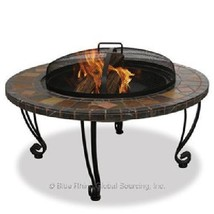 Wood Burning Firepit Uniflame Slate Outdoor Patio Deck Fireplace  - $211.00