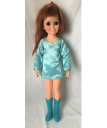 Vintage Ideal Toy Crissy Doll with Growing Red Hair Blue Dress Boots 196... - $39.95