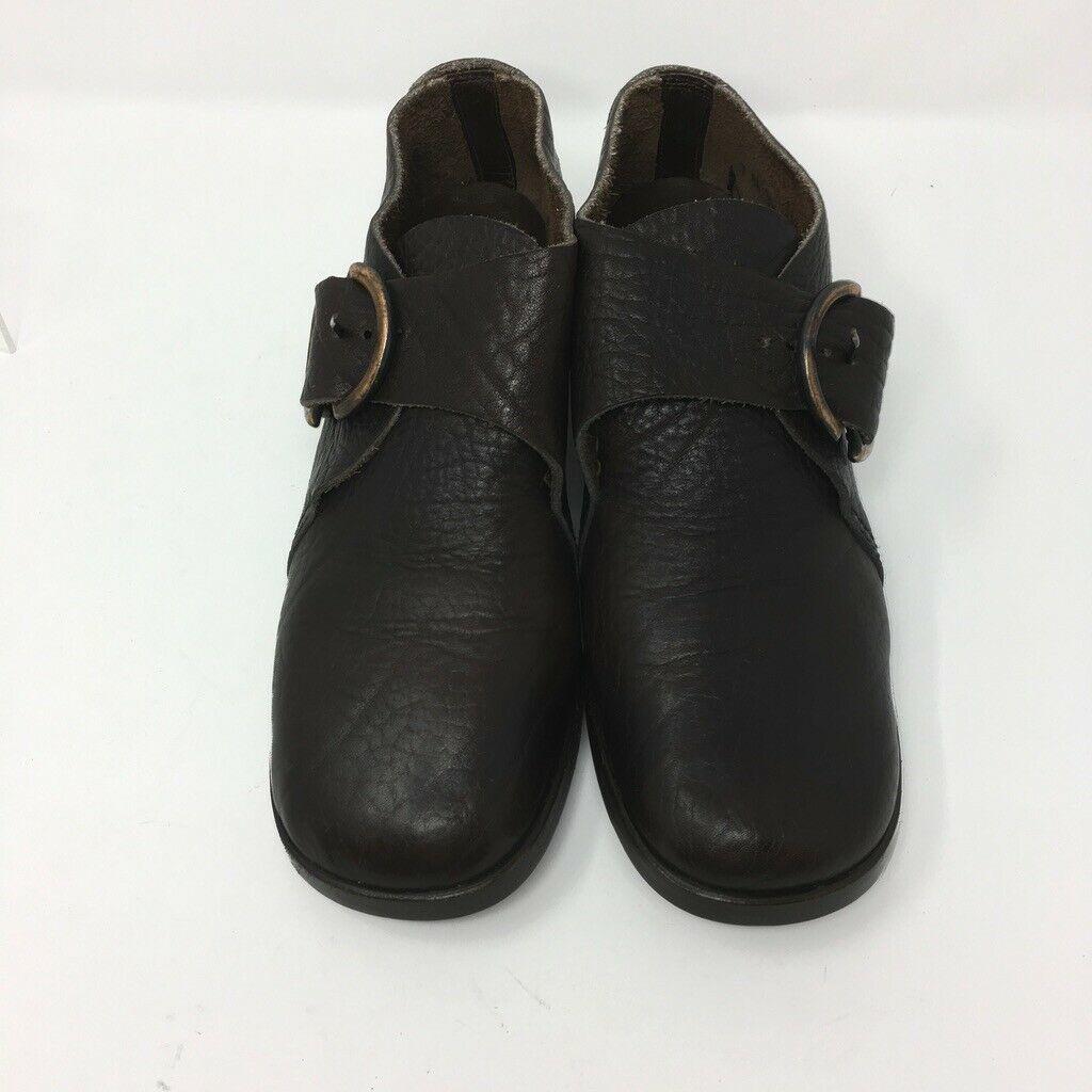 Martini Osvaldo Flats, Size 8.5 AA, Dark Chocolate Leather made in Italy