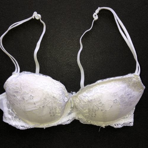 74ac5d1b4 Candies White Lace Overlay Push Up Bra Size and 50 similar items
