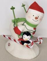 2012 Hallmark Jingle Pals Swooshin Duo Animated Singing Snowman Penguin ... - $34.65