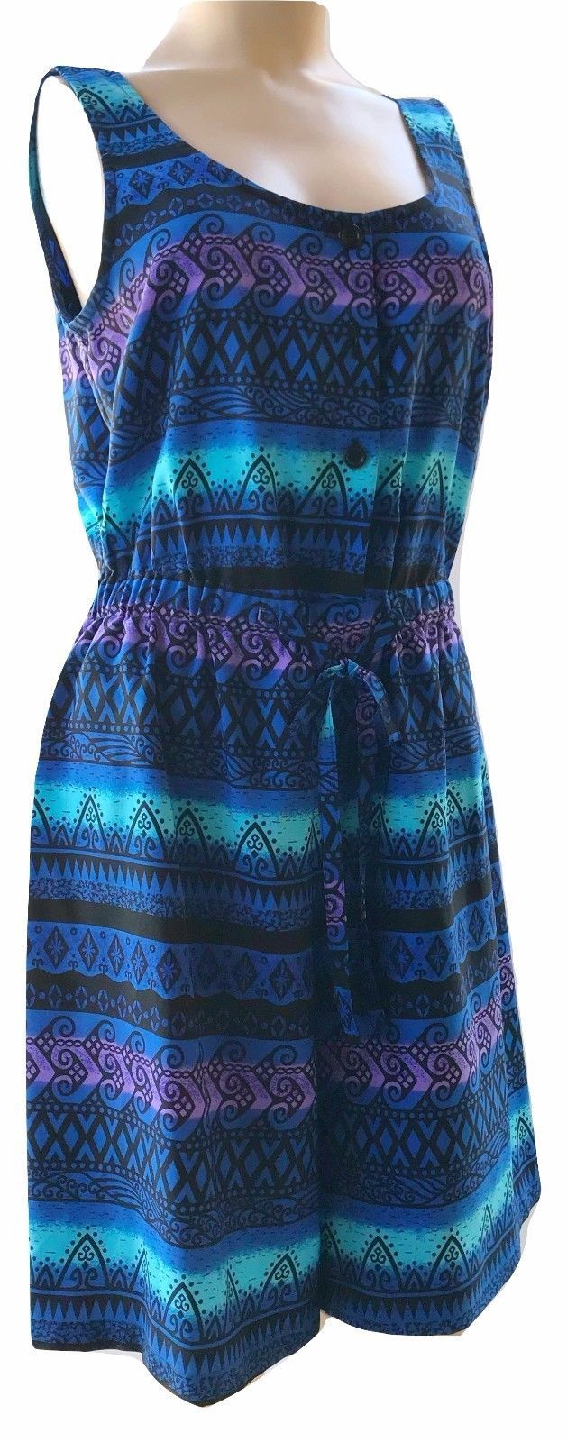 Kathie Lee Collection Sleeveless Romper Smocked Waist Size 8