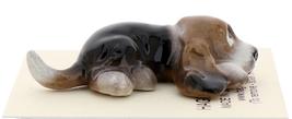 Hagen-Renaker Miniature Ceramic Dog Figurine Basset Hound Pup Lying image 2