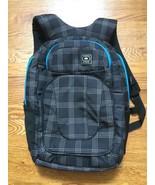 """Ogio Black Grey Blue Plaid 17"""" 17 Inch Laptop Backpack Knapsack Schoolbag  - $99.99"""