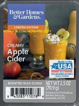 Creamy Apple Cider Better Homes and Gardens Scented Wax Cubes Tarts Melts - $3.50