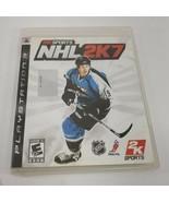 NHL 2K7 (Sony PlayStation 3, 2006) PS3 Hockey Sports Video Game - $3.96