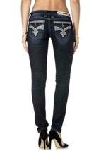 Rock Revival Women's Premium Skinny Dark Denim Jeans Woven Pants Isiah S image 2