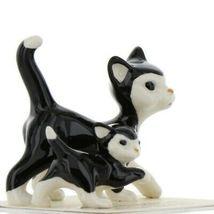 Hagen Renaker Cat Black and White Tuxedo Papa and Kitten Ceramic Figurines image 9
